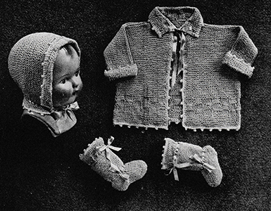 Knitted Baby Set Pattern #612