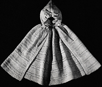 Knitted Cape with Hood Attached Pattern
