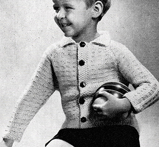 Boy's Knitted Sweater Pattern #614
