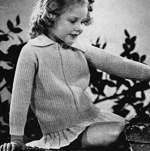 Girl's Knitted Sweater Pattern #615
