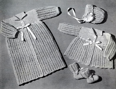 Knitted Lace Wardrobe for 3 Months Pattern