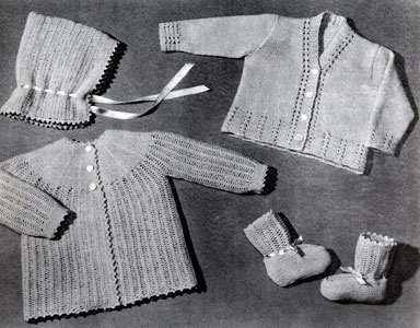 Knitted Set for 6 Months Pattern