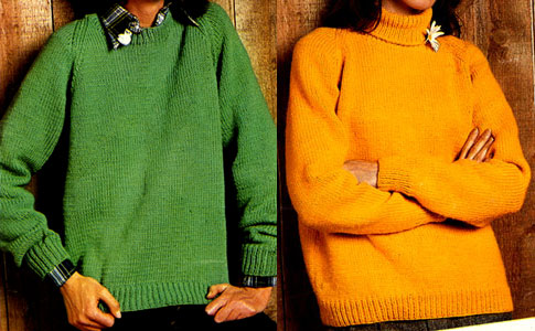 Crew or Turtle Neck Pullover Pattern