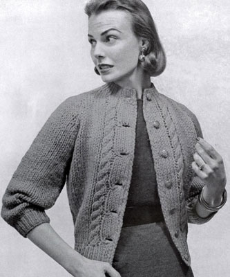 Cardigan Sweater Pattern No. 421