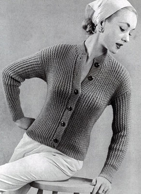 Cardigan Sweater Pattern No. 447