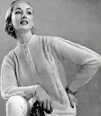 Cardigan Sweater Pattern No. 450