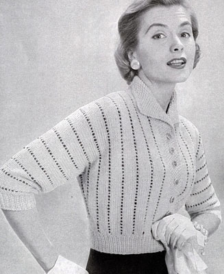 Cardigan Sweater Pattern No. 478