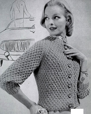Cardigan Sweater Pattern No. 485