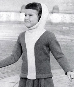 Hooded Pullover Sweater Pattern 5912
