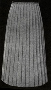 Wide Ribbed Skirt Pattern