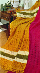 Tone-O-Rama Panel Afghan | Afghan Pattern | Knitting Patterns