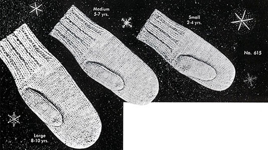 Classic Mittens Pattern 615 Knitting Patterns
