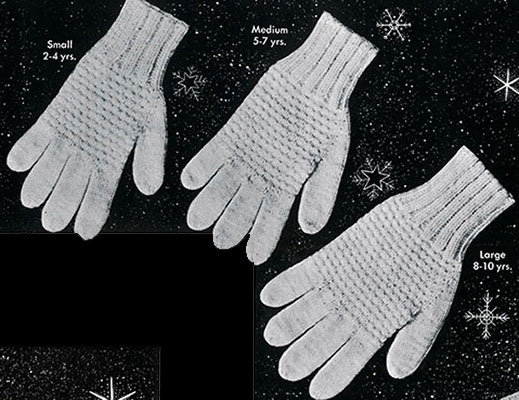 Classic Gloves Pattern #616 childrens sizes