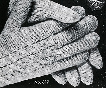 Men's & Women's Cable Gloves Pattern #617