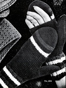 Women's Open Palm Mittens Pattern #624