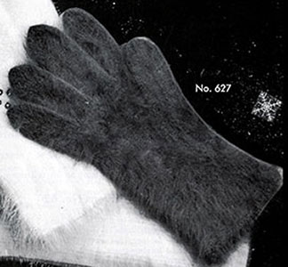 Women's Angora Gloves Pattern #627