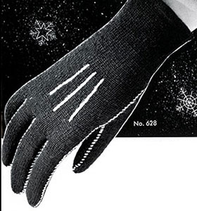 Women's Tailored Gloves Pattern #628