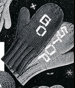 Children's Safety Mittens Pattern #637