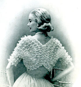 Fan Sleeved Shrug Pattern