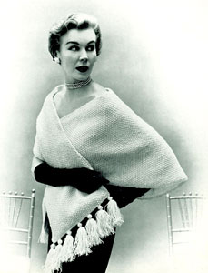 Tasseled Cape Stole Pattern