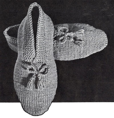 Mens Slippers Knitting Pattern : Mens Knitted Slippers Pattern Knitting Patterns