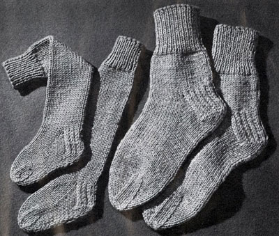 Free Two Needle Sock Knitting Patterns : Knitted 2 Needle Socks Pattern Knitting Patterns