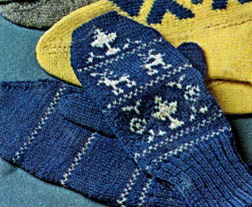 Lady's Fair Isle Mittens Pattern