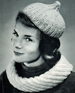 Cowl Collar and Beret Pattern