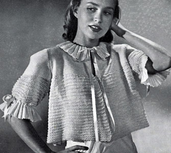 Bed Jacket Pattern