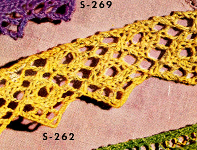 Knitted Edging No. S262 Pattern