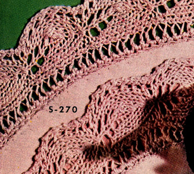 Knitted Edging on Luncheon Set No. S270 Pattern