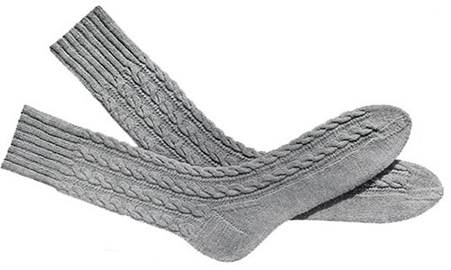 Mens Cable Socks Pattern, No. 603