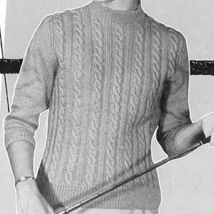 Teen Top Cable Pullover Pattern #903