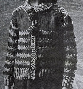 Bulky Knit Cardigan Pattern #920