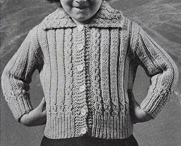Toddlers Jacket Sweater Pattern #925