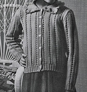 Girls Sweater Pattern #926