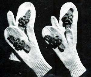Girls and Ladies Mittens Pattern #105