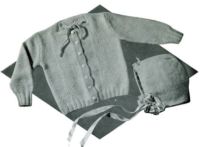 Cardigan & Hat Pattern #502