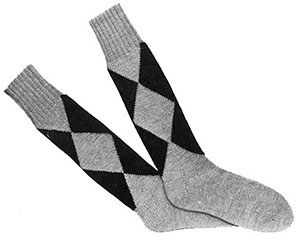Mens Argyle Socks Pattern #601