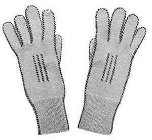 Ladies 2-Needle Gloves Pattern #607