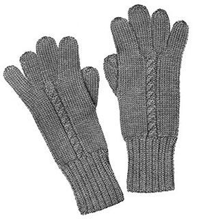 Ladies Cable Stitch Gloves Pattern #608