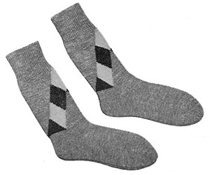 Mens Argyle Socks Pattern #612