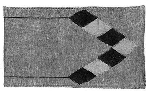 Argyle Scarf Pattern #614