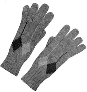 Mens Argyle Gloves Pattern #615