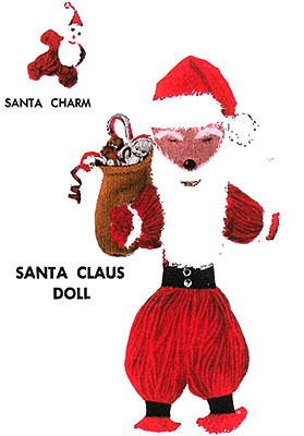 Santa Claus Yarn Doll Pattern #0102