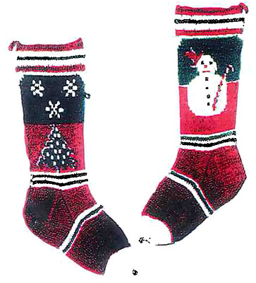 Snowman and Snowflakes Stocking Pattern #6203C