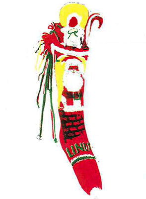 Santa and Chimney Stocking Pattern #6206C