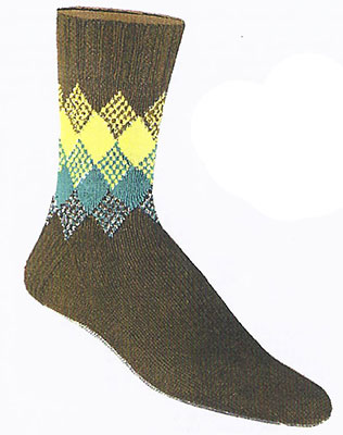 Blending Colors Socks Pattern #72-106