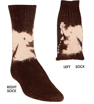 Tipsy Elephant Socks Pattern #72-111