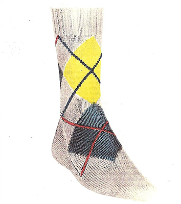 Argyle Socks Pattern #7201